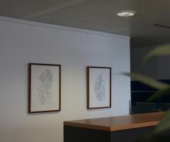 Bilder im Großraumbüro Hewlett Packard, Wien 13