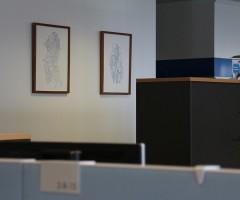 Bilder im Großraumbüro Hewlett Packard, Wien 12