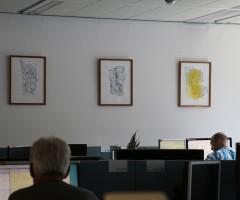 Bilder im Großraumbüro Hewlett Packard, Wien 11