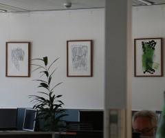 Bilder im Großraumbüro Hewlett Packard, Wien 10