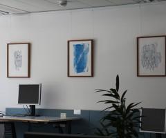 Bilder im Großraumbüro Hewlett Packard, Wien 8