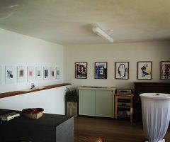Vernissage in der Wohnzimmergalerie Six 2